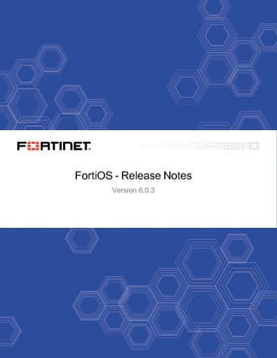 Fortinet Version 6.0.3